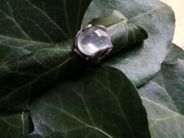 Pierścionki Kropla rosy w srebrze