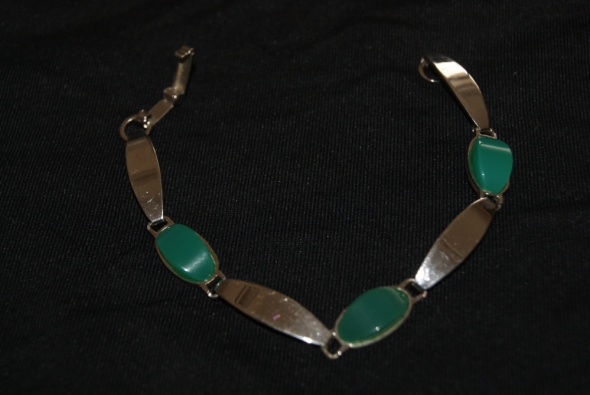 Bransoletki Bransoletka z zielonym onyksem