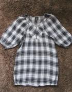Sukienka w kratkę Mango bez talii XS S ciążowa