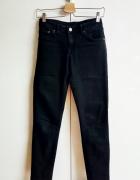 H&M czarne dopasowane spodnie rurki jeansy S M 3032...