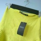 Zara nowa limonkowa spódnica z falbanką neonowa