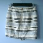 HM spódnica zakładka asymetryczna paski wełna