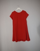 nowa sukienka trapezowa czerwona