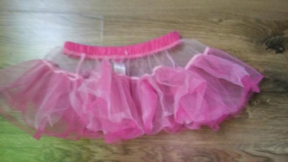 Biało różowa spódniczka tiul balet