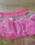 Biało różowa spódniczka tiul balet...
