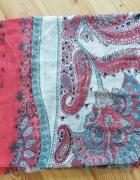 Chusta szal apaszka Bershka kolorowa wzór paisley...