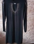 Sukienka zdobiona cyrkoniam...
