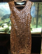 sukienka złota cekiny