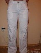 spodnie lenie białe...