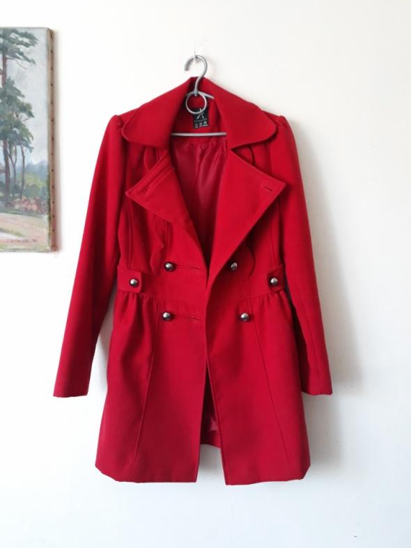 Odzież wierzchnia Czerwony elegancki plaszcz