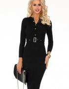 Dopasowana elegancka sukienka bordowa M L XL...
