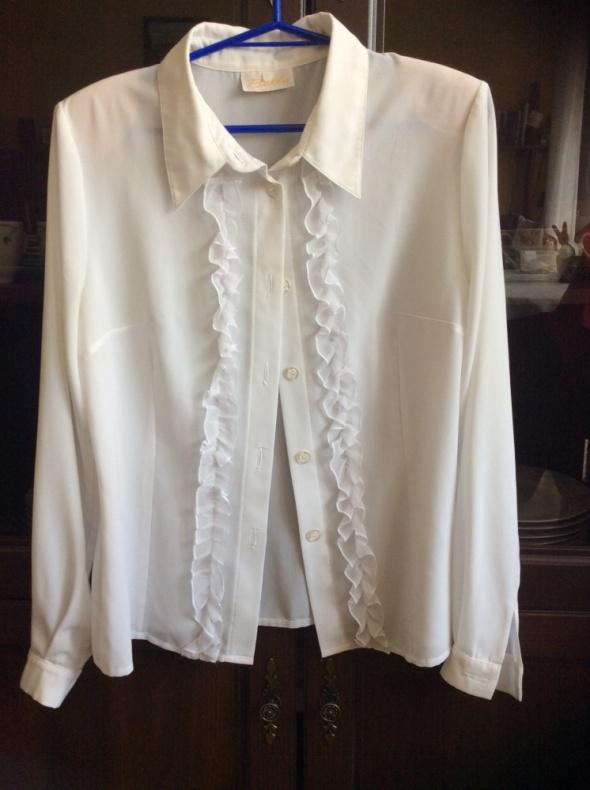 Koszule Biała z żabotem