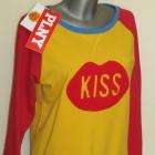 PLNY LALA bluza Kiss Raglan Red Yellow Sweatshirt