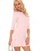 Urocza sukienka w kilku kolorach RÓŻOWA S M L...