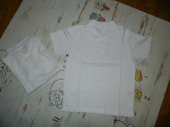 Essentials 2 sztuki koszulka polo biała roz 134