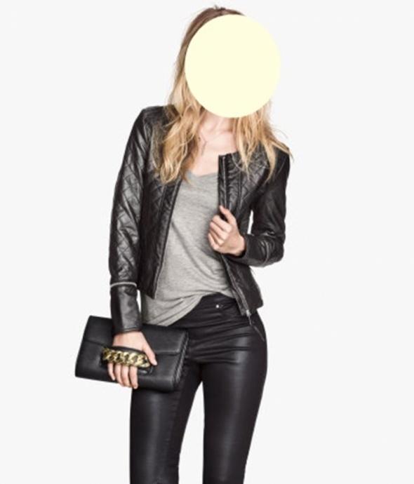H&M kurtka ramoneska pikowana eco skóra roz 36