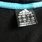 czarna bluza adidas z kapturem rozsuwana