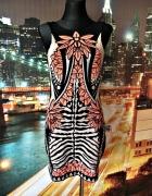 river island sukienka mini ciekawy wzór ołówkowa HIT 36 38...