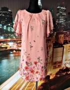 primark sukienka mgiełka kwiaty motyle nowa hit blog 38 M...