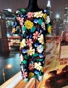 primark sukienka luźny fason kwiaty floral jak nowa 40 L...