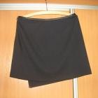 Asymetryczna spódniczka z eco skórką 38 Yessika
