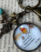 Walentynki Miłość Kubuś Puchatek cytat brelok na klucze...