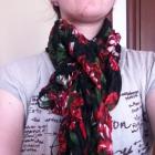 new Modny duży szal kolorowa krata kwiaty chusta w