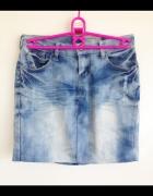 Subelevel Mini dopasowana ołówkowa jeansowa dżinsowa spódnica X...