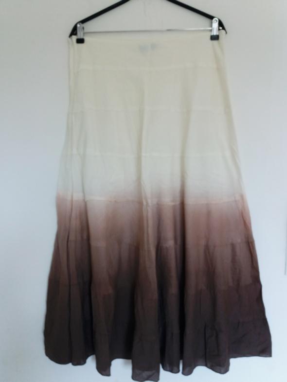 super cieniowana długa spódnica L XL
