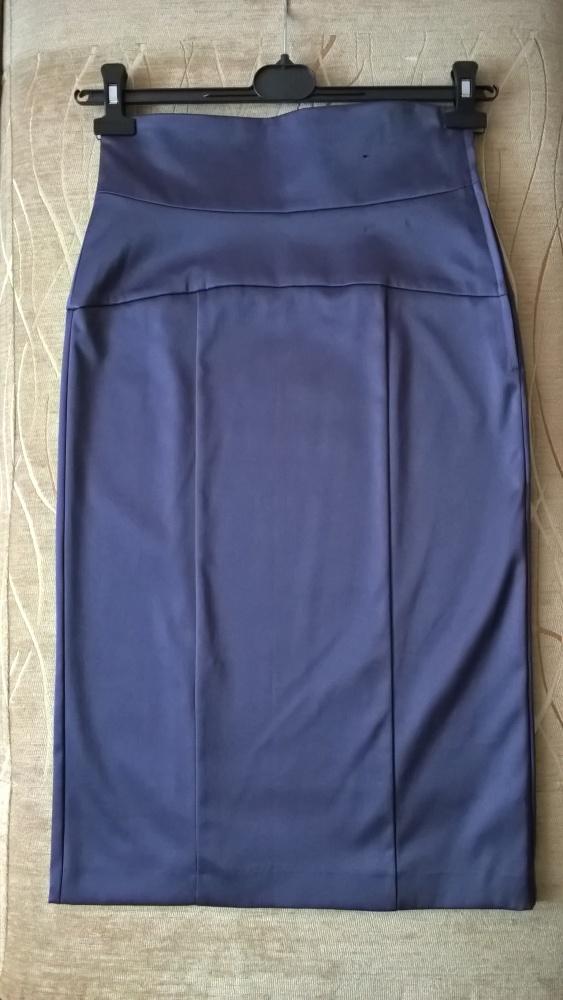 Spódnice Śliwkowa ołówkowa spódnica Atmosphere z wysokim stanem