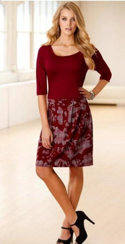 Suknie i sukienki 44 46 Sukienka elegancka czerwona kontrafałdy
