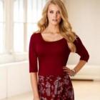 44 46 Sukienka elegancka czerwona kontrafałdy