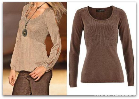 Swetry 44 46 Elegancki Sweter z lureksową nitką bluzeczka