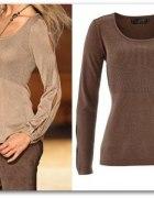 44 46 Elegancki Sweter z lureksową nitką bluzeczka