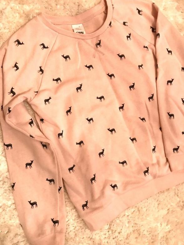 Różowa bluza w sarny sinsay XS S...
