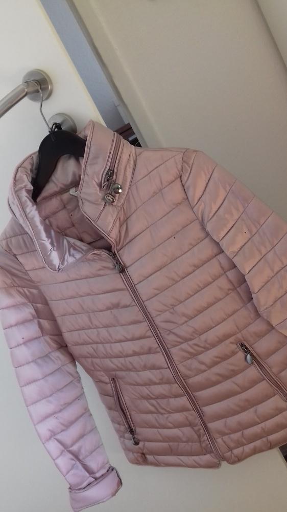 Nowa kurtka Metalic Pink M