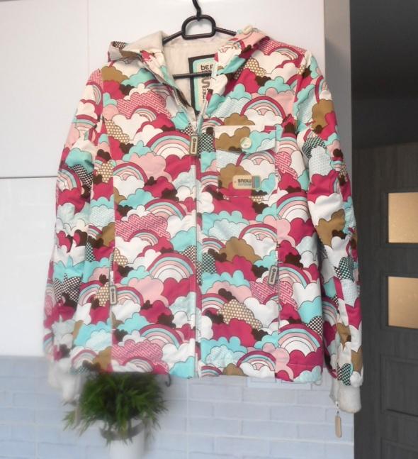 Bershka kurtka print wzory...