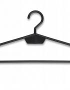 Wieszaki odzieżowe plastikowe czarne nieobrotowe 10 szt