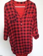 Koszula w czarno czerwoną kratkę