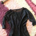 Sweter sweterek czarny ozgobny siateczka V
