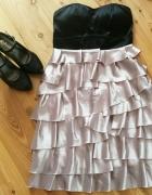 Nowa elegancka sukienka z falbankami XS 34...