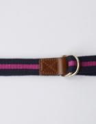 Pasek Lindex Lampasy Różowy Granatowy Holly&Whyte 107 cm...