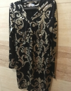 czarno złota sukienka 36 S sugarfree sylwester itp