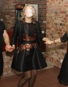 piękna sukienka czarno złota z tafty Cudo...