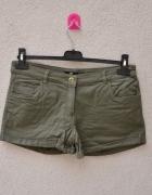 H&M stan idealny spodenki szorty khaki zielone...