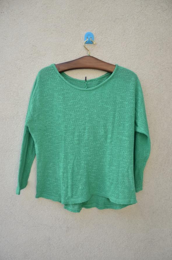 Swetry CUBUS zielony luźny sweter OVERsize