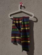 SZAL jak nowy szalik w paski szary kolorowy...
