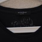 RESERVed audrey hepburn czarna bluzka tshirt