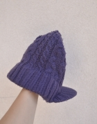 ROTATE 180 ciepła czapka z daszkiem fioletowa...