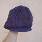 ROTATE 180 ciepła czapka z daszkiem fioletowa
